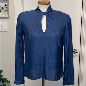 Small dusty blue blouse